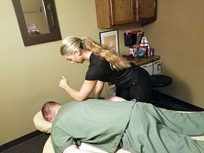 Chiropractic Cottage Grove MN Patient Getting Massage